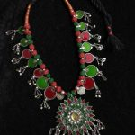 Beautiful Glass Silver Thread Necklace From Kansvin Jewellery