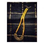 Beautiful Yellow Beaded Necklace From Azhagi Beads