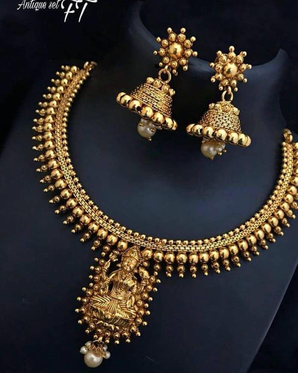 Classic Lakshmi Necklace Set From Dangles Chennai