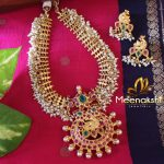 Classy Pearl Necklace Set From Meenakshi Jewellers