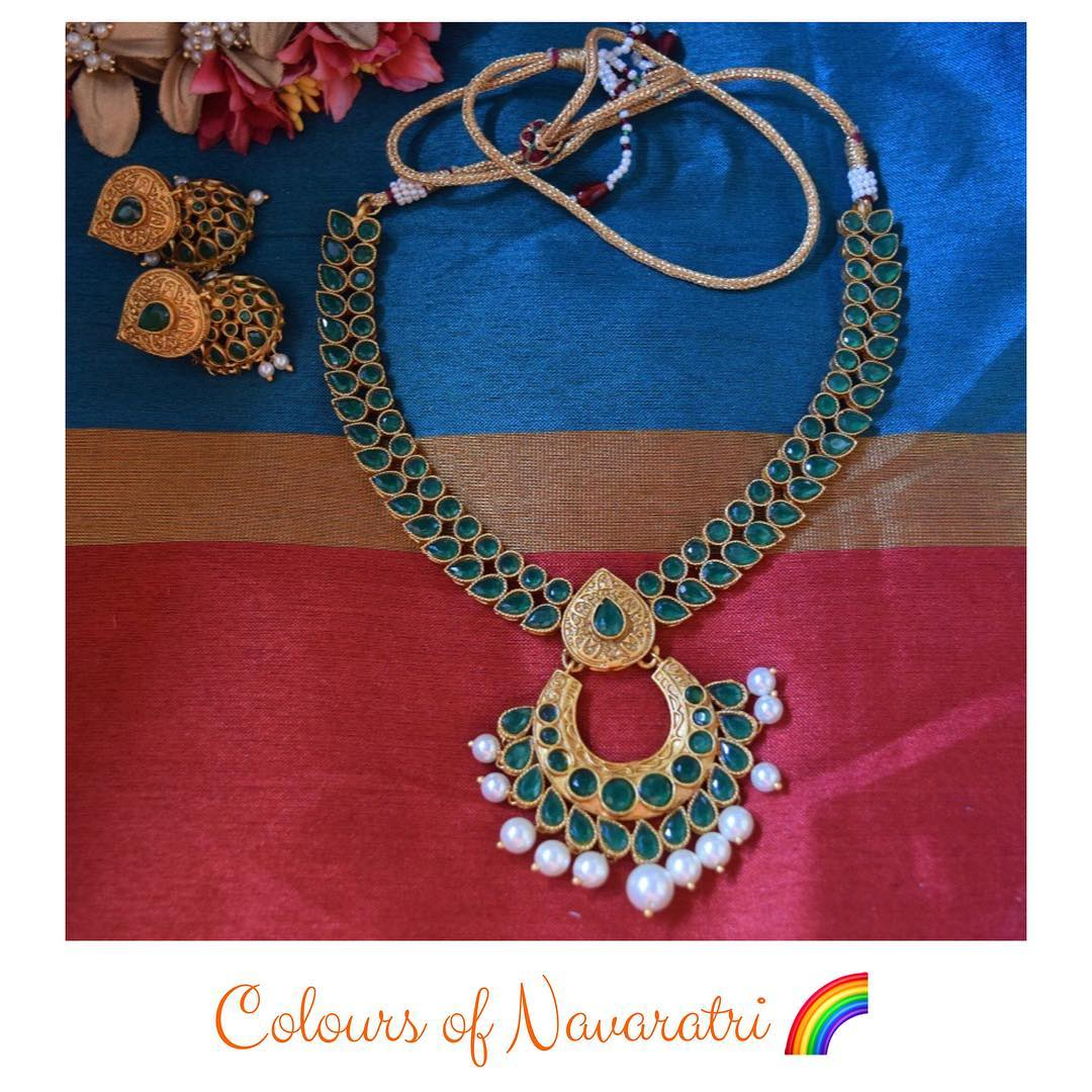 Colourful German Silver Necklace Set From Quills And Spills