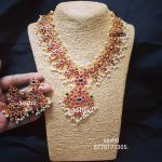 Cute Guttapusalu Necklace Set From Silver Sashti