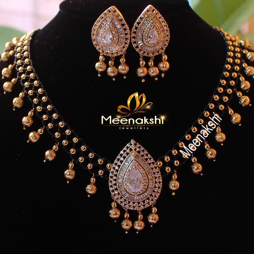 Designer Beaded Necklace From Meenakshi Jewellers