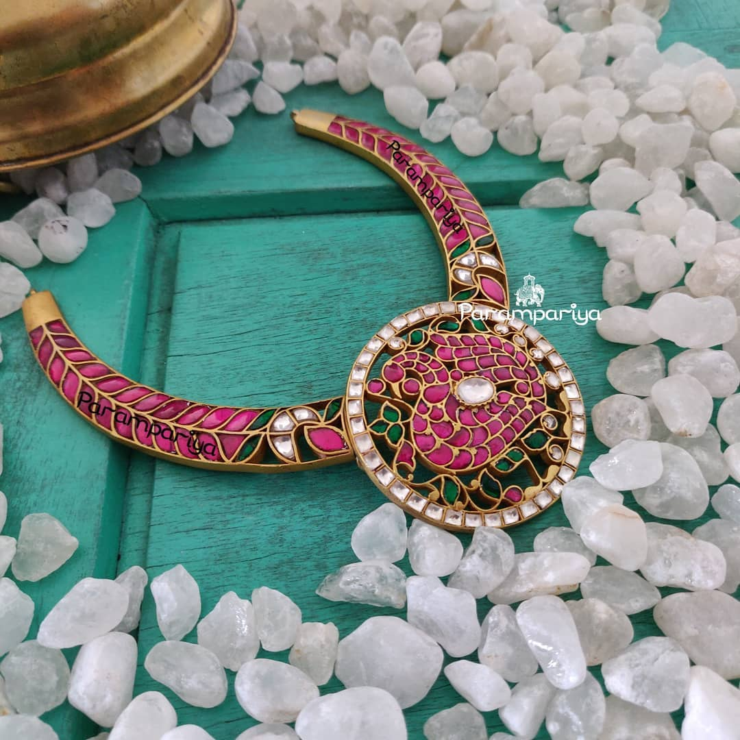 Gold Plated Silver Necklace From Parampariya