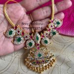 Pretty Silver Mango Necklace From Sree Exotic Silver Jewelleries