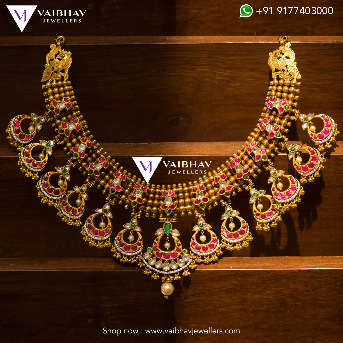 Temple Necklace From Vaibhav Jewellers