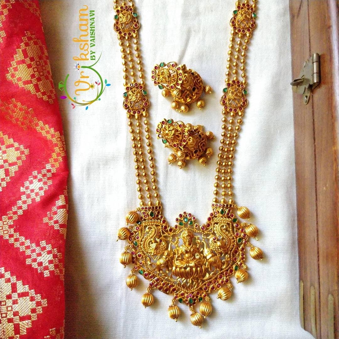 Traditional Temple Necklace Set From Vriksham