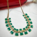 Trendy Chain In Torquoise Blue And Gold From Viya Collections
