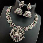 American Diamond Matt Finish Necklace From Vriksham