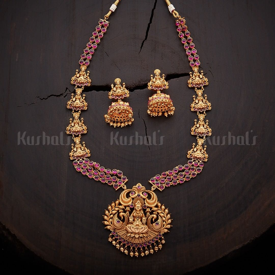 Ethnic Necklace Set From Kushal's Fashion Jewellery