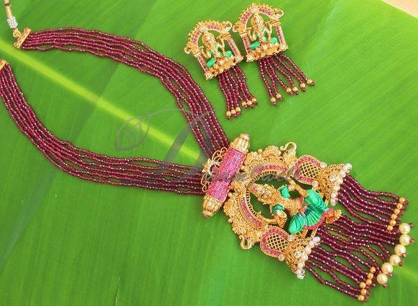 Gorgeous Lakshmi hand painted Meena set From Dreamjwell