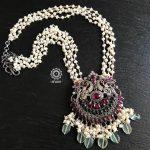 Nrityam Peacock Pendant With Pearls From Aham Jewellery