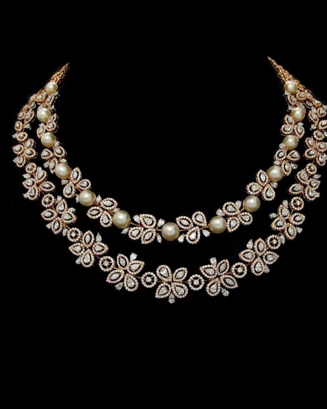 Stunning Gold Pearl Necklace From Aarni By Shravani