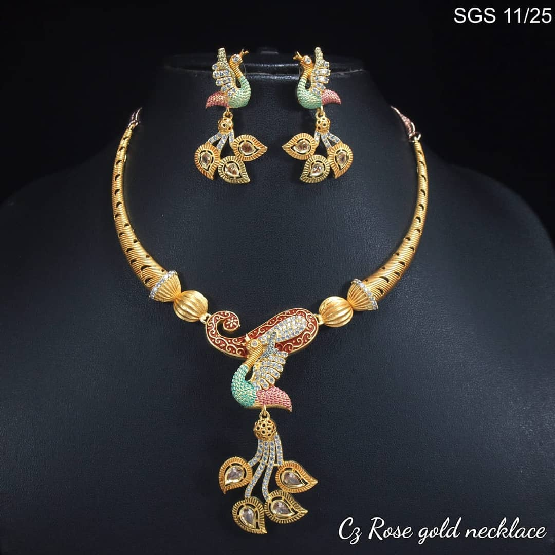 Stunning Peacock Necklace From Lakshmi Fashiana