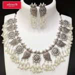 Stylish German Silver Necklace from Adorna Chennai