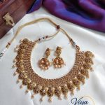Extremely beautiful Rose Gold Stones Embedded Choker From Viya Collections