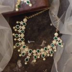 AD Emerald Necklace Set From Anicha