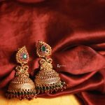 Antique Gold Jhumkas From Anicha