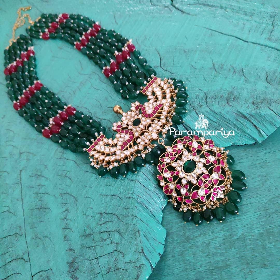 Beautiful Beaded Necklace From Parampariya