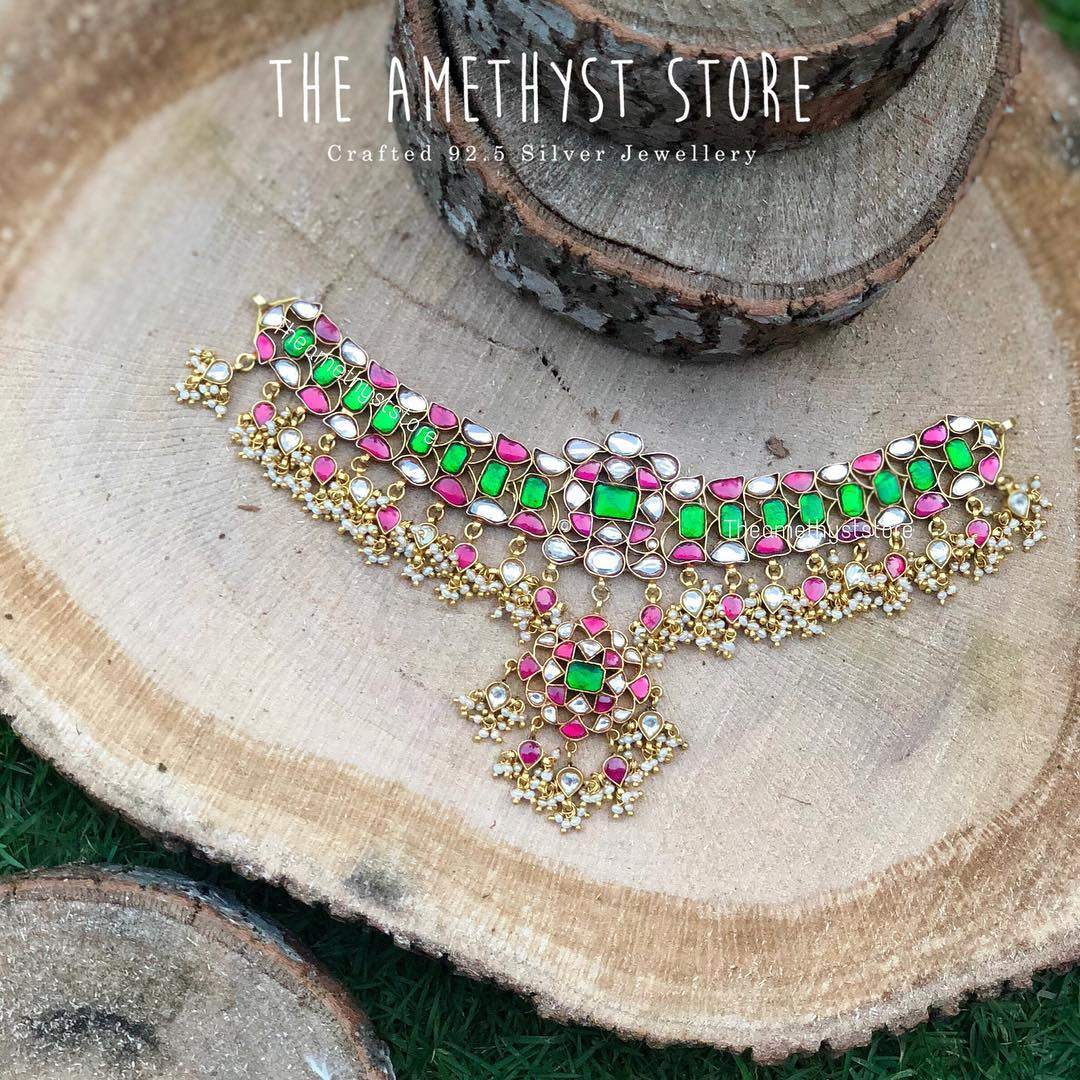 Colourful Silver Necklace From The Amethyst Store