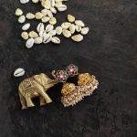 Cute little Kundan Jhumkas From Parampriya