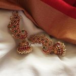 Kemp Stones Peacock Ear Cuff Jhumka From Emblish Coimbatore