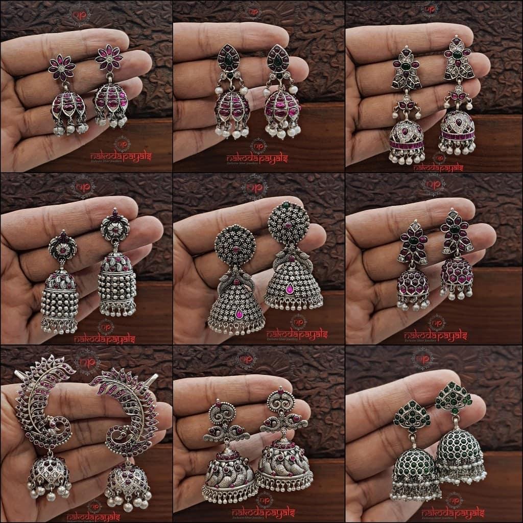 Pure Silver Jhumka Collections From Nakoda Payals