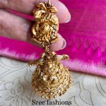 Beautiful Gold Plated Silver Jhumka From Sree Exotic Silver Jewelleries