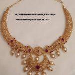 Decorative Diamond Necklace From Sree Mahalakshmi Gems And Jewels