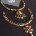 Emerald Cut Stone Necklaces From Silver Cravings Jewellery