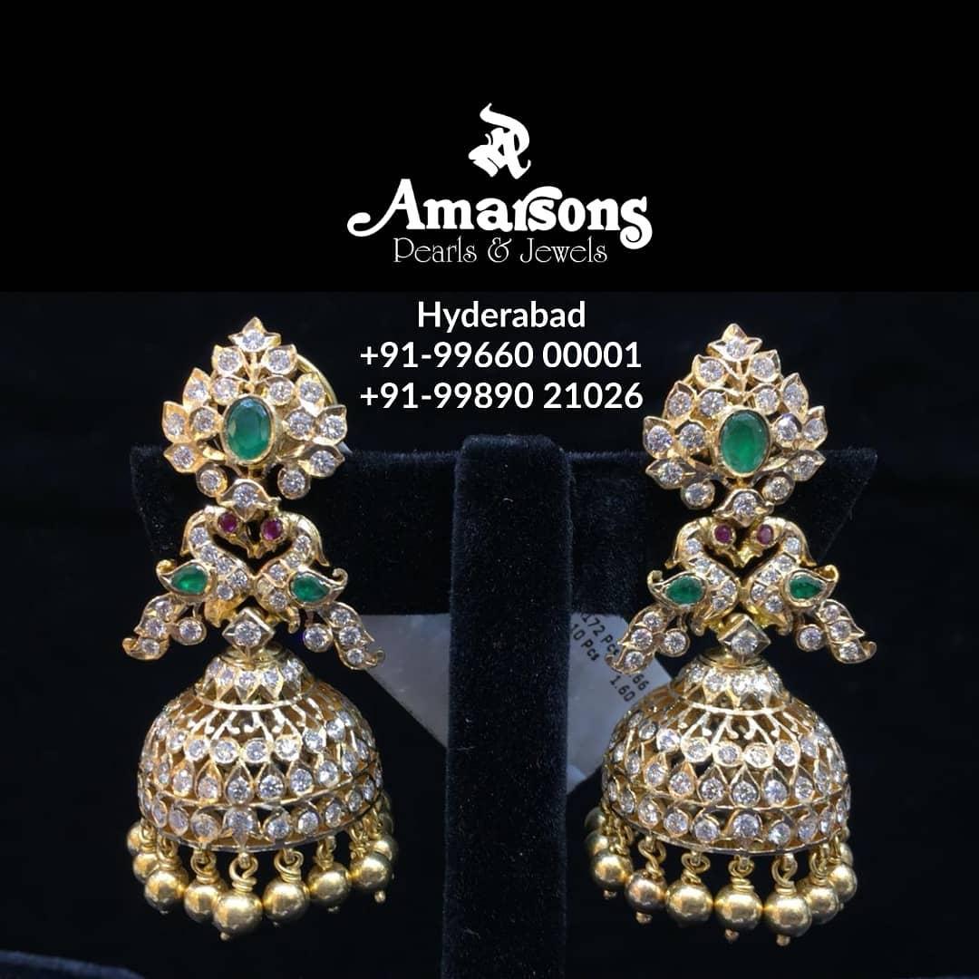 Emerald Diamond Hanging From Amarsons Jewellery