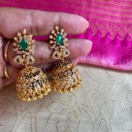 Eye Catching Stone Jhumka From Sree Exotic Silver Jewelleries