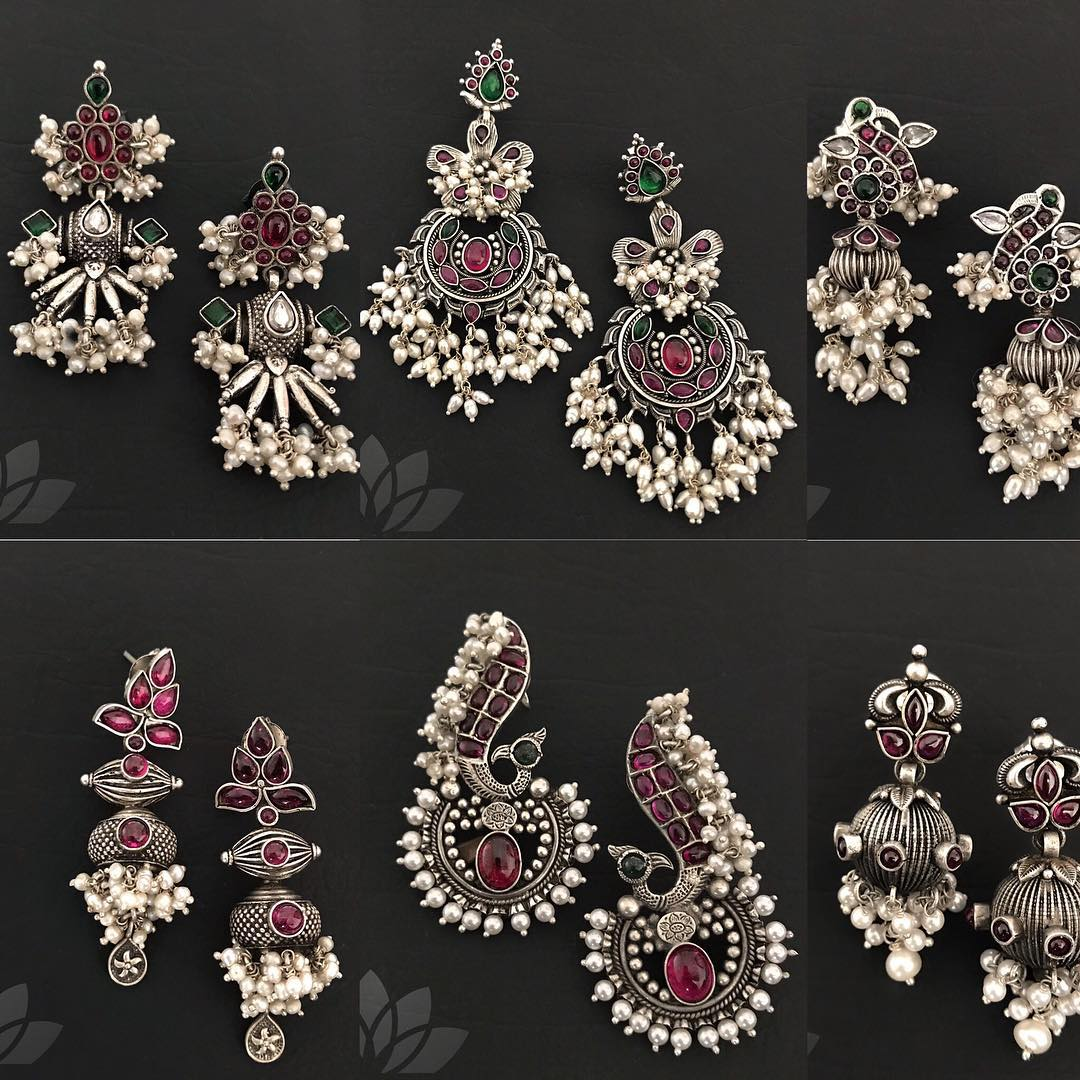 Fashionable Silver Earrings From Prade Jewels