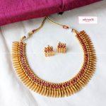 Matte Gold Spike Set From Adorna Chennai