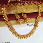 Mugappu Design Matte Necklace Set From Shree Designs