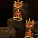Chandbali Earrings With Gold Jhumkas From Sri Vasavi Thangamaaligai
