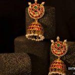 Chandbali Earrings With Gold Jhumkas From Sri Vasavi Thangamaaligai