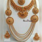 Pretty Bridal Necklace Set From Shree Designs