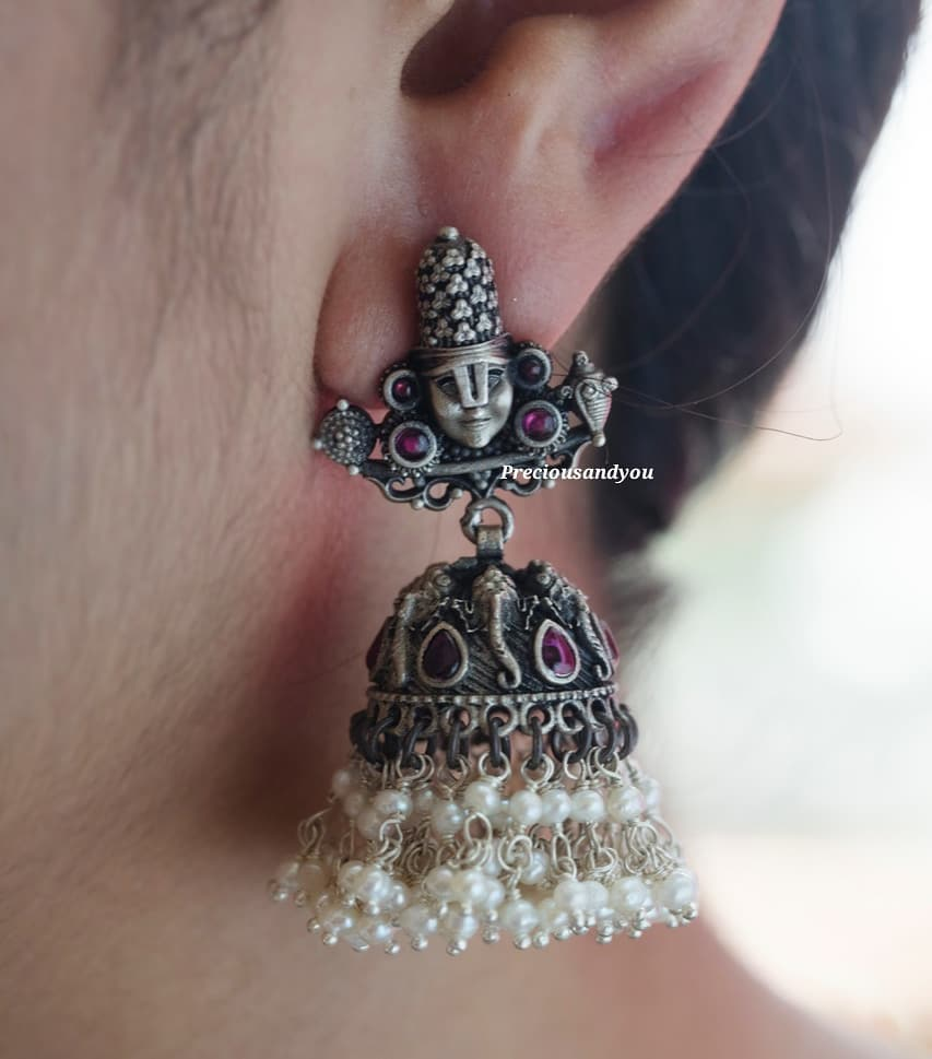 Pure silver Nakshi Jhumkas From Precious And You