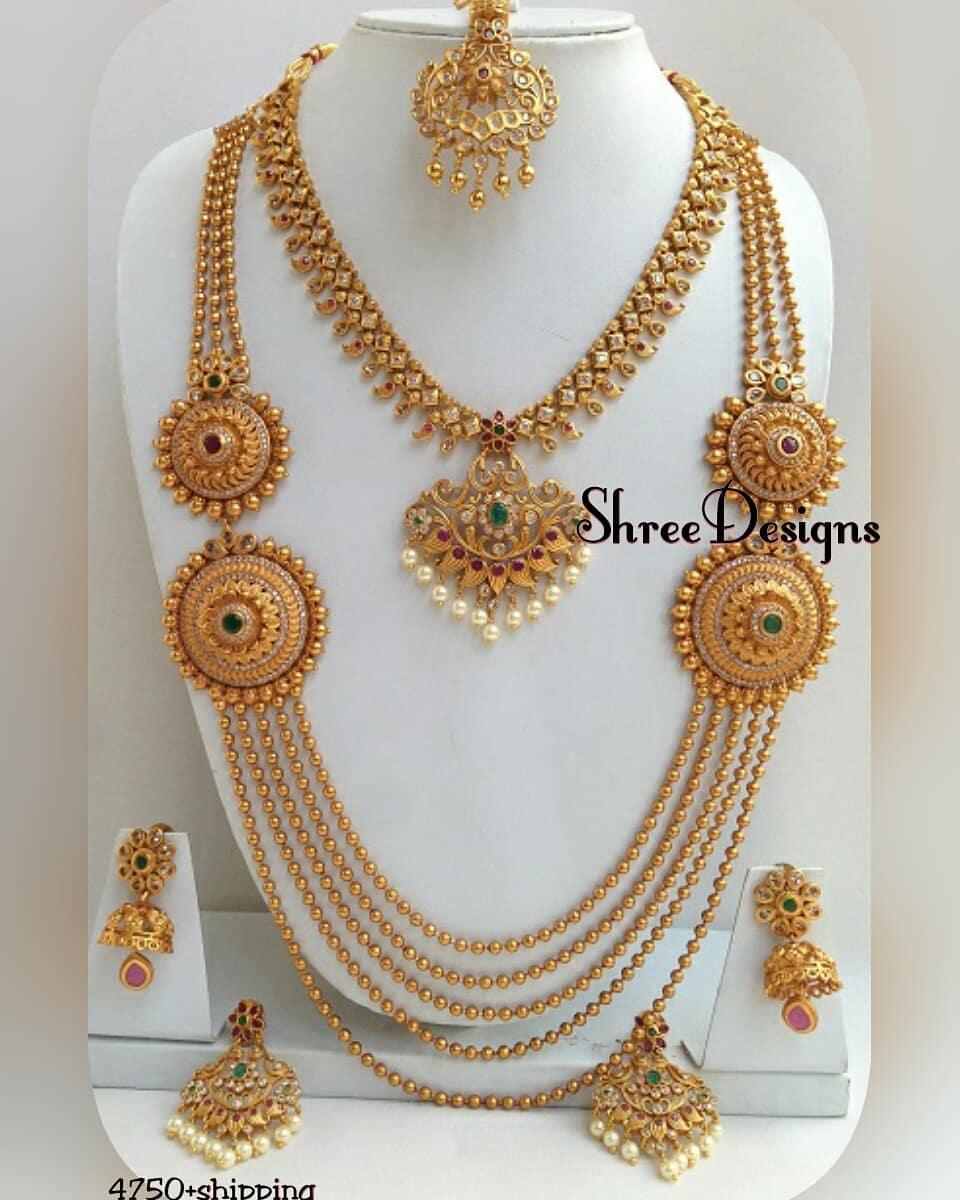 Semi Bridal Jewellery From Shree Designs Jewellery