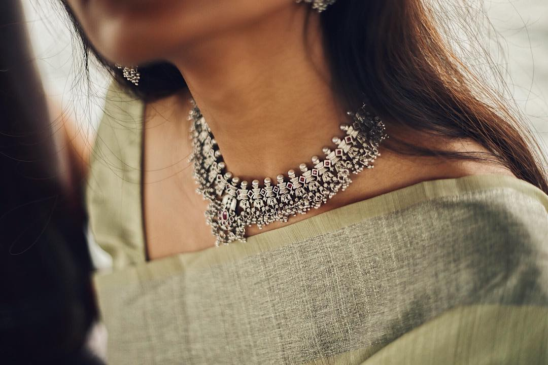 Short Guttapusalu necklace set From Rasi Creations