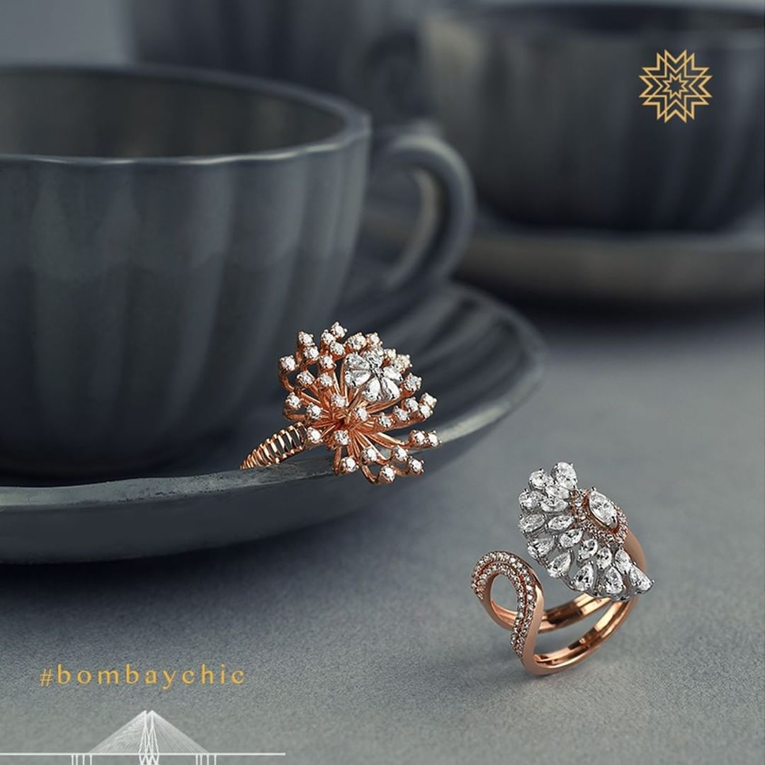 Stunning Gold Ring From Manubhai jewellers