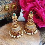 Alluring Matte Finish Peacock Jhumkas From Accessory Villa