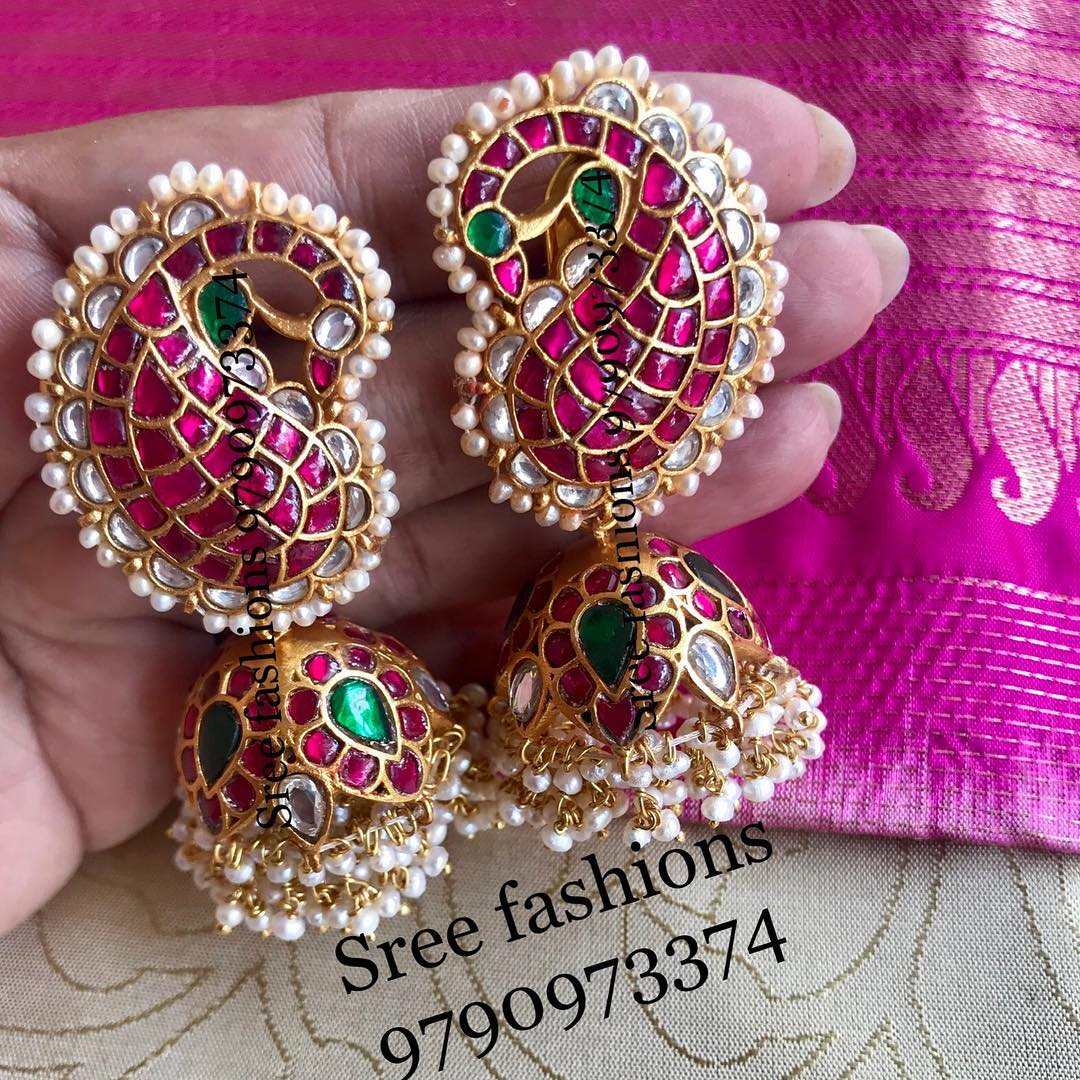 Classic Jhumka From Sree Exotic Silver Jewelleries