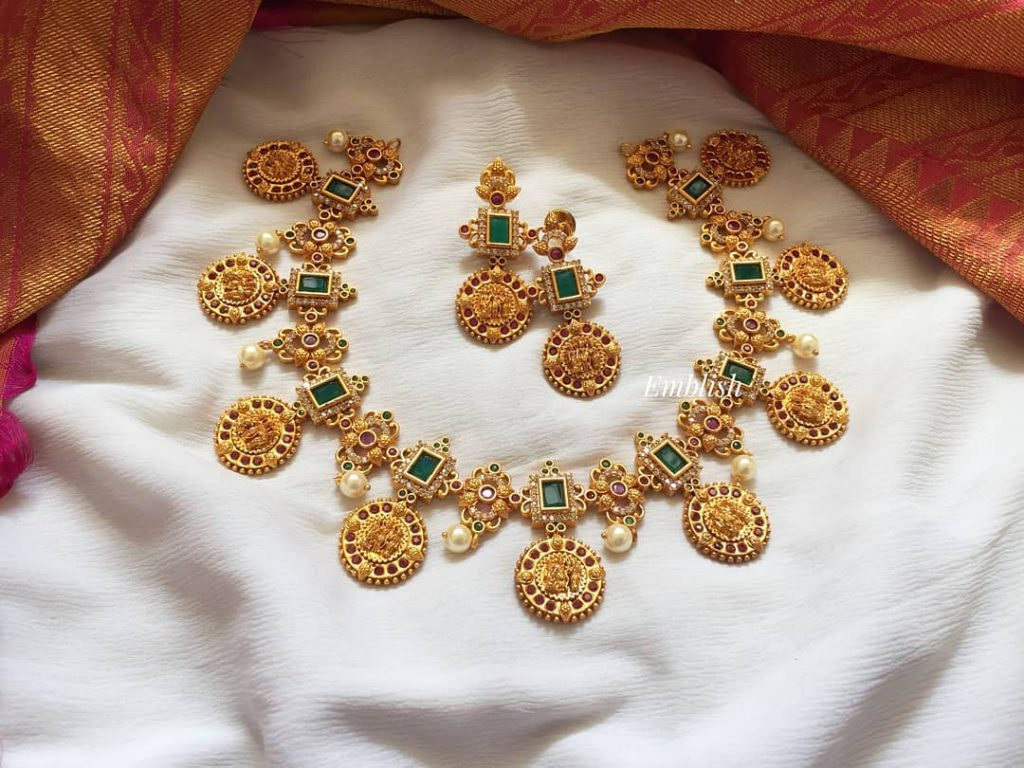 Classic Necklace Set From Emblish Coimbatore