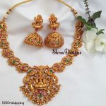 Classic Short Temple Necklace From Shree Designs
