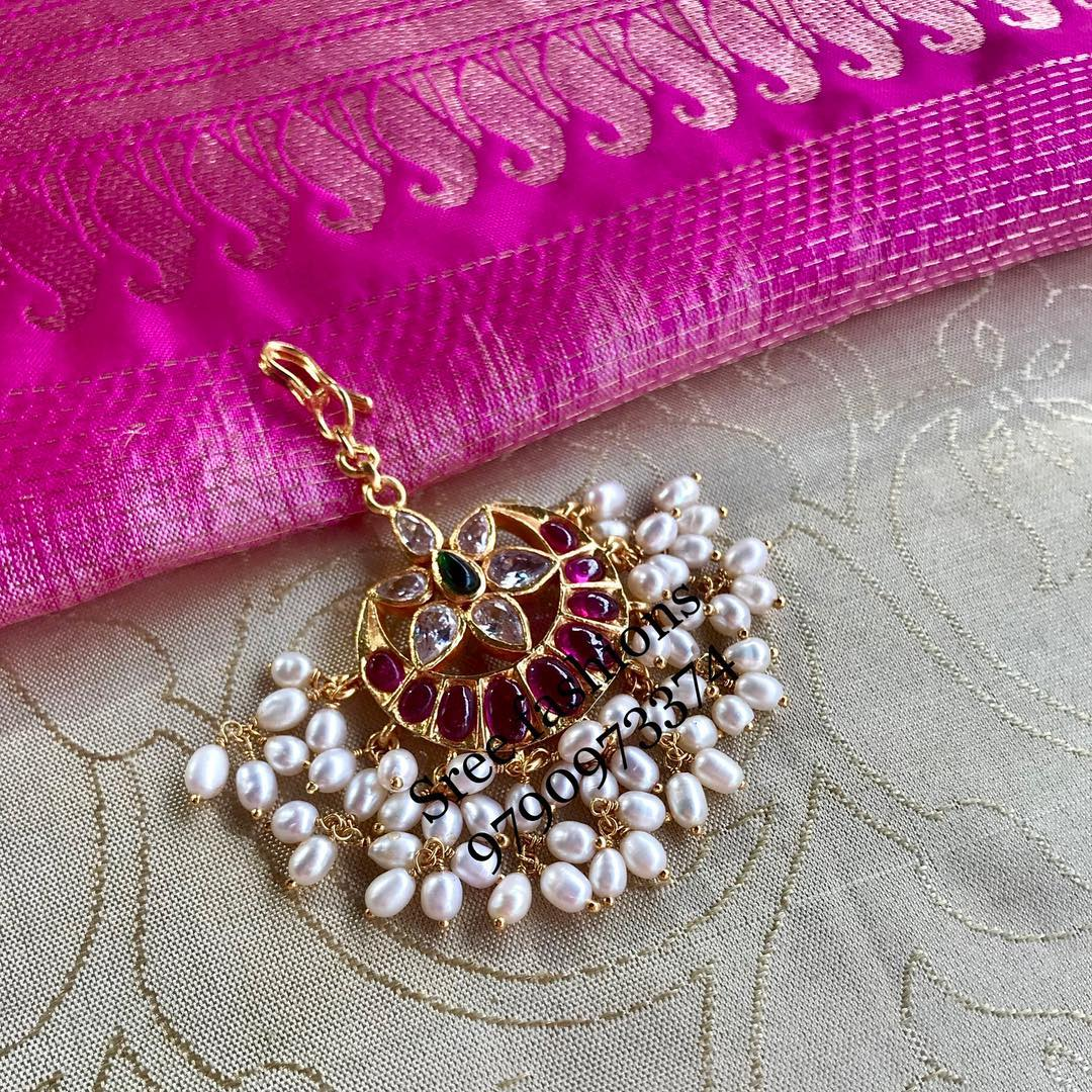 Cute Silver Tikka From Sree Exotic Silver Jewelleries