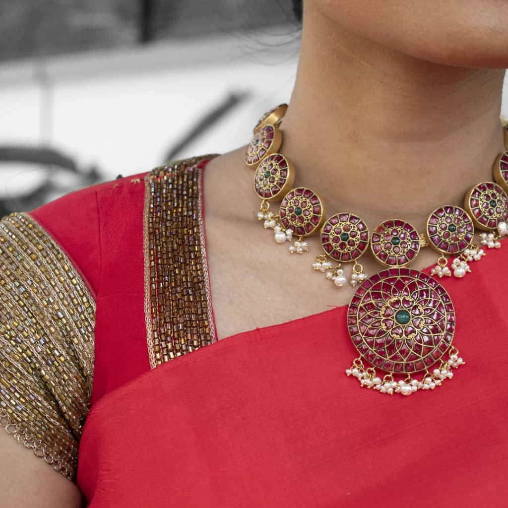 Decorative Silver Necklace From Desically Ethnic