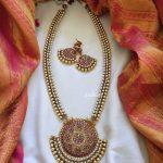 Double Pearl Line Neckpiece From Emblish Coimbatore