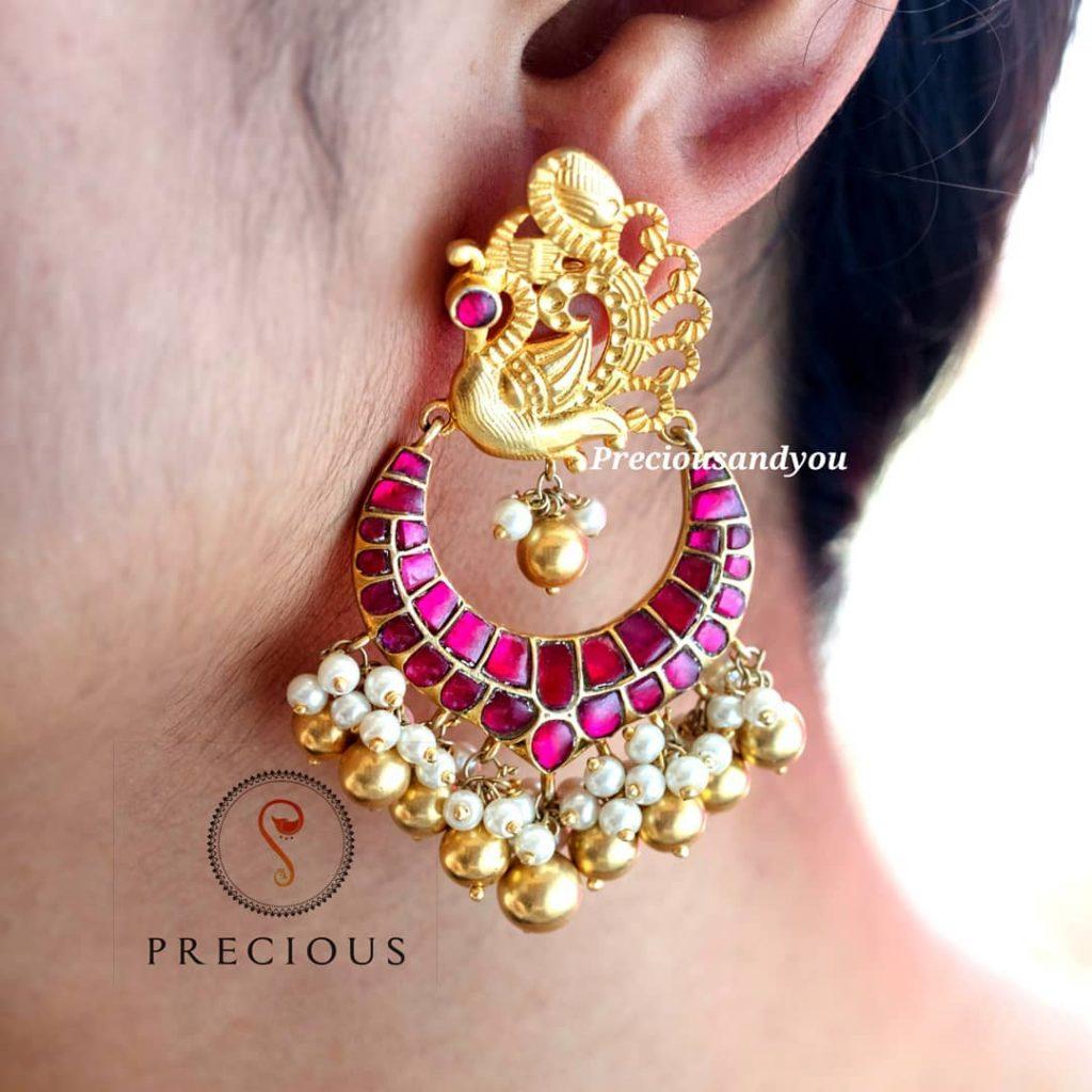 Elegant Kundan Earrings From Precious And You